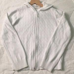Cozy knit zipper hoodie